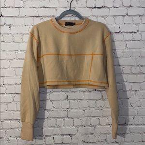 Pretty Little Thing Orange Cropped Sweatshirt